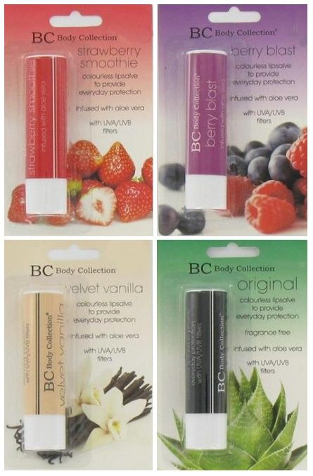 Body Collection Lip Balm Assorted 1x12