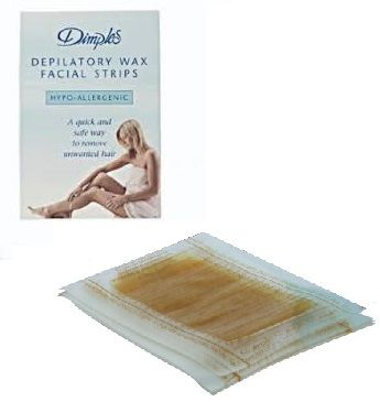Dimples Depilatory Wax Facial Strips