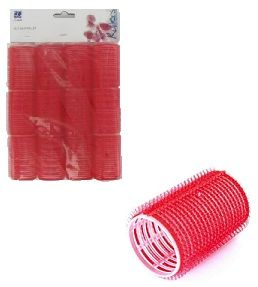 Dimples Self Grip Rollers Red 12 Pack