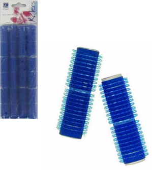 Dimples Self Grip Rollers Small Blue 12 Pack