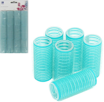 Dimples Self Grip Rollers Turquoise 12 Pack