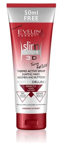 Eveline Slim Extreme 3D Thermo Active Serum Waist, Body, Abdomen and Buttocks 250ml