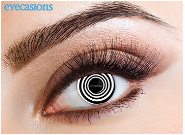 Eyecasions Contact Lenses Black Spiral Daily