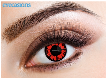 Eyecasions Contact Lenses Explosion Red Daily