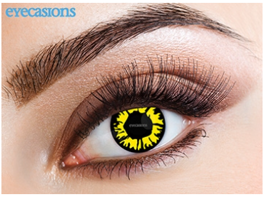 Eyecasions Contact Lenses Explosion Yellow Daily