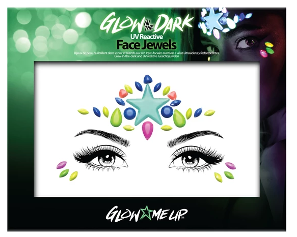 Glow Me Up Glow In The Dark Face Jewels #1 Halloween