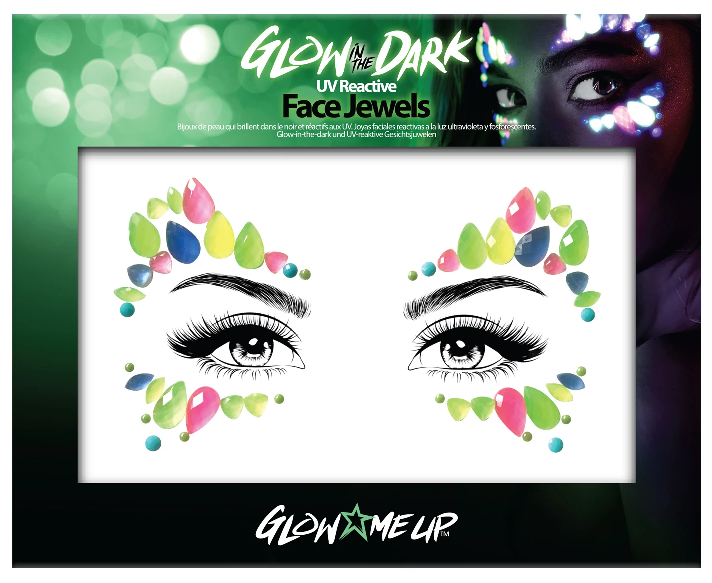 Glow Me Up Glow In The Dark Face Jewels #2 Halloween