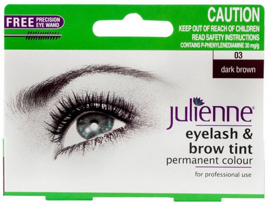 Julienne Eyelash & Brow Tint Dark Brown