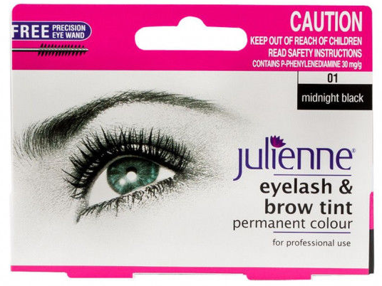 Julienne Eyelash & Brow Tint Midnight Black