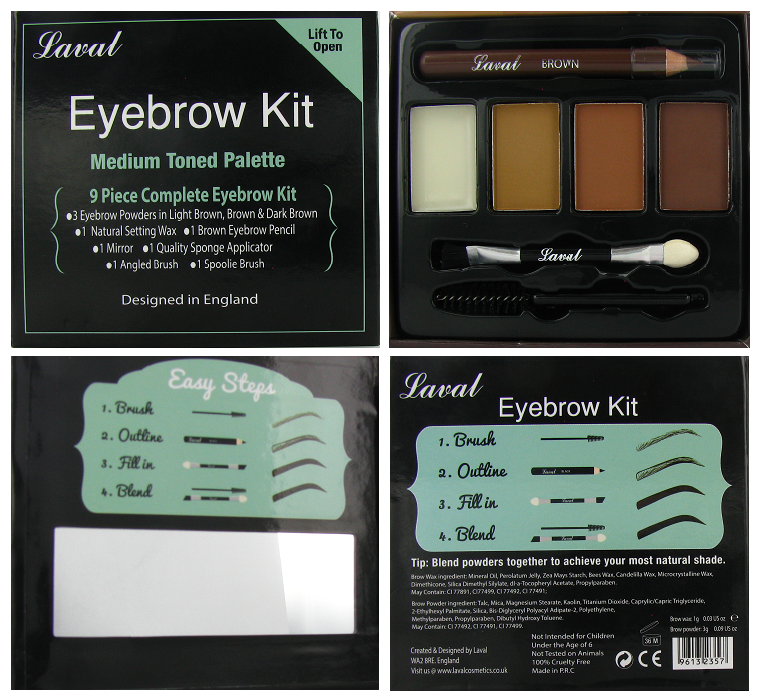 Laval Eyebrow Kit Medium Toned Palette