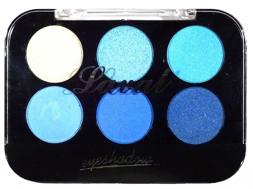 Laval Eyeshadow Palette Blue 6 Piece