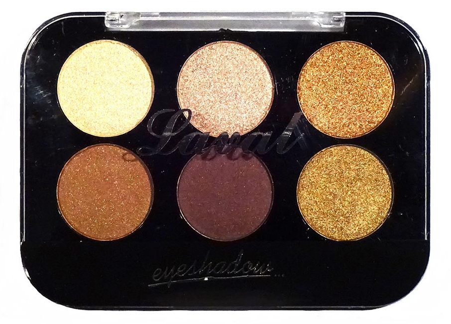 Laval Eyeshadow Palette Brown 6 Piece