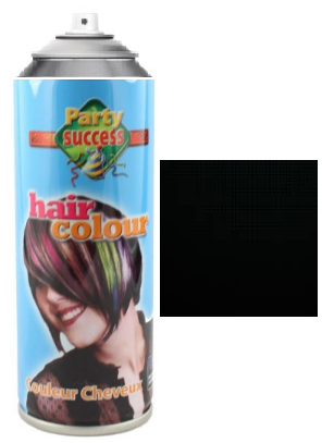 Party Success Colour Hairspray Black
