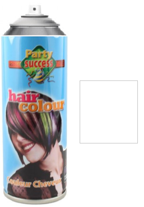 Party Success Colour Hairspray White