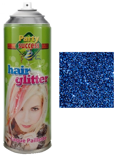 Party Success Glitter Hairspray Blue
