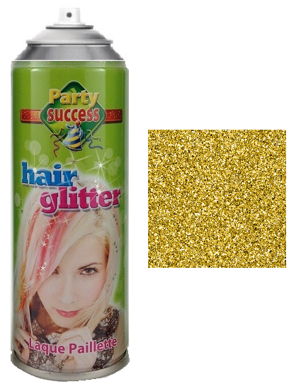 Party Success Glitter Hairspray Gold
