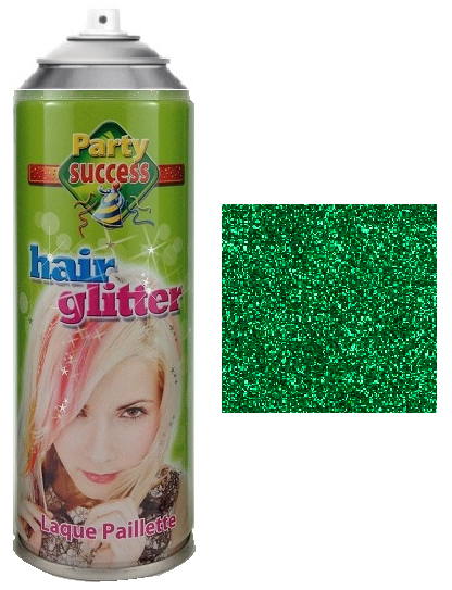 Party Success Glitter Hairspray Green