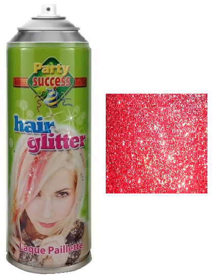 Party Success Glitter Hairspray Red