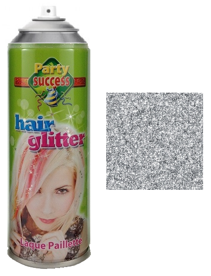 Party Success Glitter Hairspray Silver