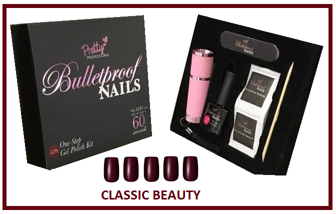 Pretty Bulletproof Gel Nail Polish Set Classic Beauty