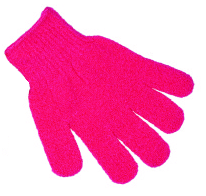 Pretty Exfoliating Gloves Pink