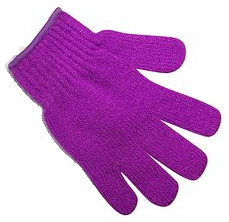Pretty Exfoliating Gloves Purple