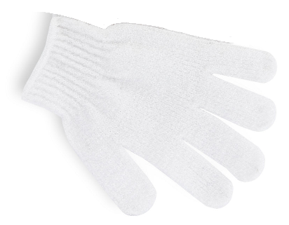 Pretty Exfoliating Gloves White