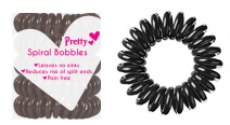 Pretty Spiral Bobbles Black