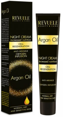 REVUELE Argan Oil Night Cream Face