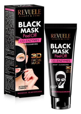 Revuele Black Mask Peel Off Co-Enzymes Deep Cleansing