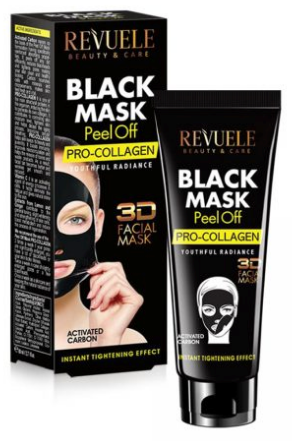 Revuele Black Mask Peel Off Pro-Collagen Youthful Radiance