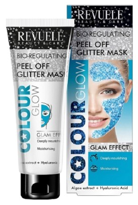 Revuele Regenerating Peel Off Glitter Mask Blue Algae Extract + Hyaluronic Acid