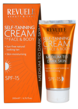 Revuele Self Tanning Cream Medium To Dark SPF 15 200ml