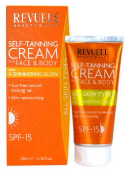 Revuele Self Tanning Cream Shimmering Glow SPF 15 200ml