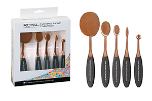 Royal Flawless Finish Collection Makeup Brushes 1x5