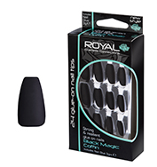 Royal Nail Tips Black Magic Coffin 1x6