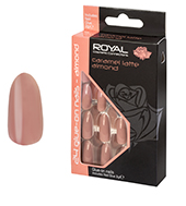 Royal Nail Tips Caramel Latte Almond NNAI287 1x6