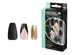 Royal Nail Tips Jubilant Coffin NNAI270 1x6