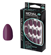 Royal Nail Tips Mulled Wine Stiletto 1x6