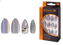 Royal Nail Tips Passion Stiletto (Grey) NNAI253 1x6
