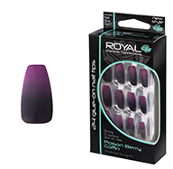 Royal Nail Tips Poison Berry Coffin 1x6