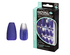 Royal Nail Tips Purple Luxe Coffin NNAI273 1x6
