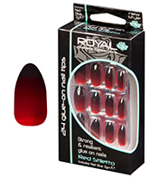 Royal Nail Tips Red Stiletto Nail Tips 1x6 Halloween