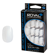Royal Nail Tips Short Round False 1x1