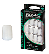 Royal Nail Tips Short Square False 1x1