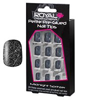 Royal Pre Glued Nail Tips Midnight Spritzer 1x6