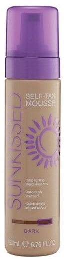 Sunkissed Self Tan Mousse Dark 200ml