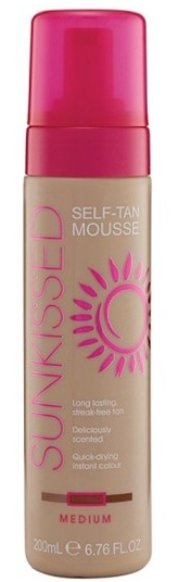 Sunkissed Self Tan Mousse Medium 200ml