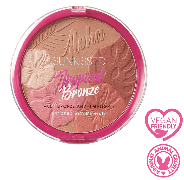 Sunkissed Tropical Bronze Multi Bronze Highlight Blush Vegan Friendly