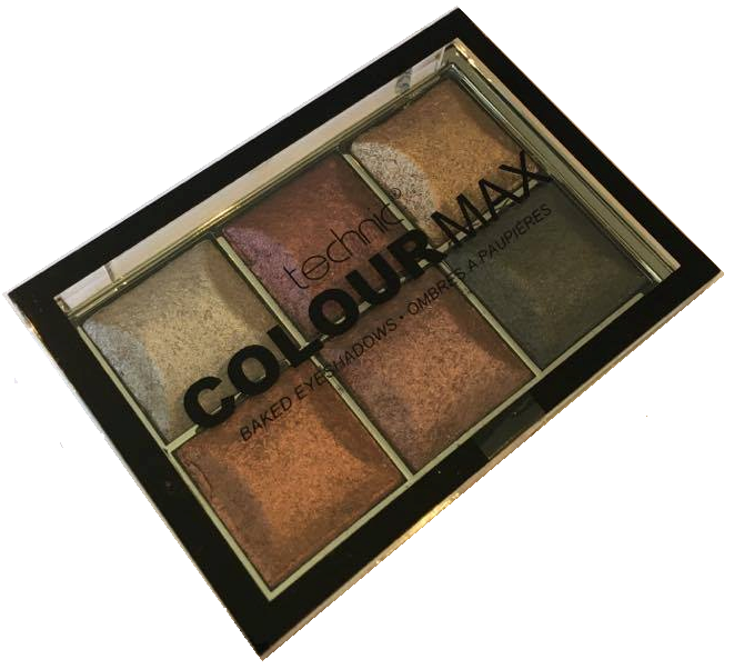 Technic Colourmax Baked Eyeshadow Palette Treasure Chest 1x1